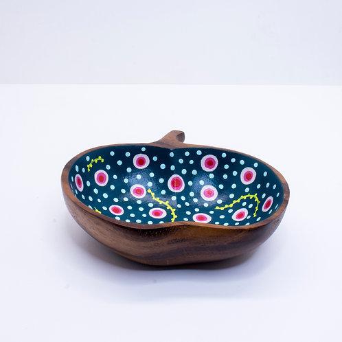 Hand-painted Apple Dish