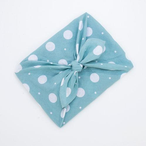 Reusable Gift Wrap Bag | Lt Aqua Spot