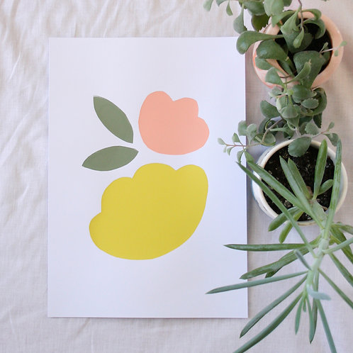 ABSTRACT FLORAL WALL ART | A4