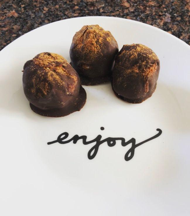 Chocolate Pumpkin Spice Bonbons