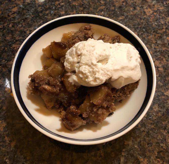 Apple Crisp & Coconut Whipped Cream