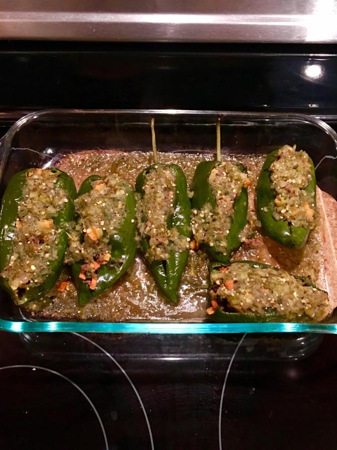 Recipe: Salsa Verde Stuffed Peppers