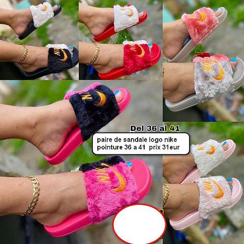 sandale fourure fashion a porter