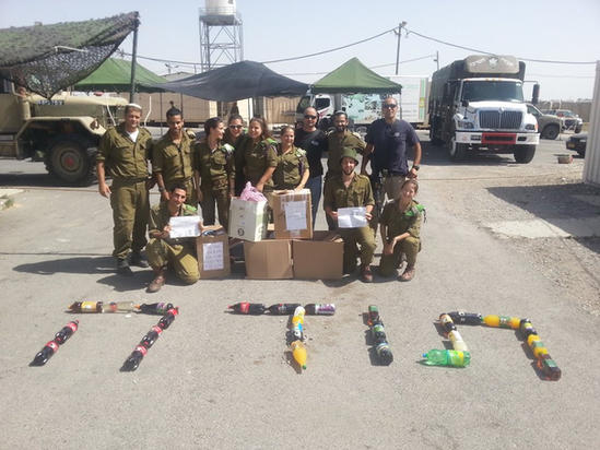 Supported the soldiers of the Israel Defense Forces