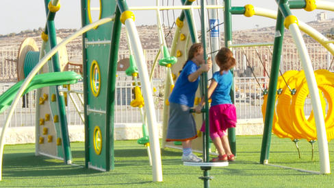 Built new community playgrounds