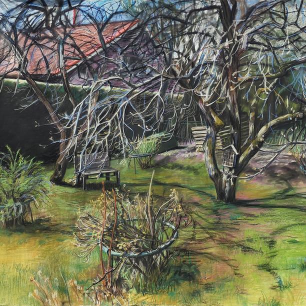Kevät puutarhassa (Spring Time in Garden), 2020