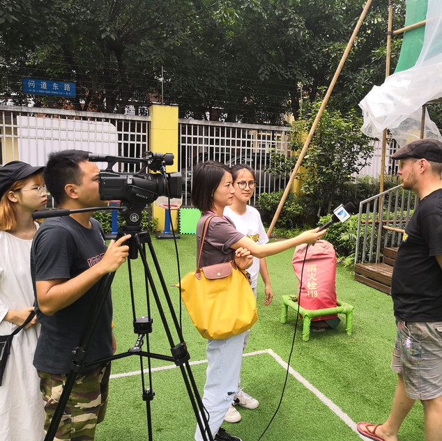 Interview with TV.