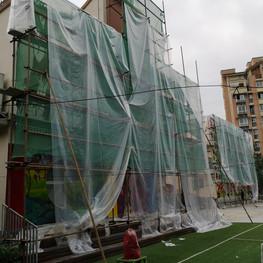 Three storey construction site.