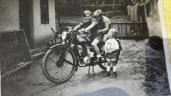 Peppi's motorcycle...