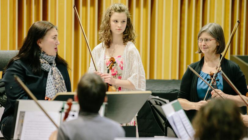 Rehearsal at Nazareth 2. w Amy concerto winner