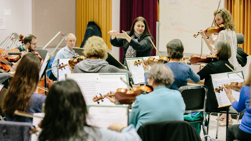 Rehearsal at Nazareth College 1