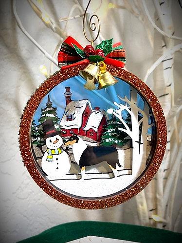 2021 Smooth Collie Christmas Ornament