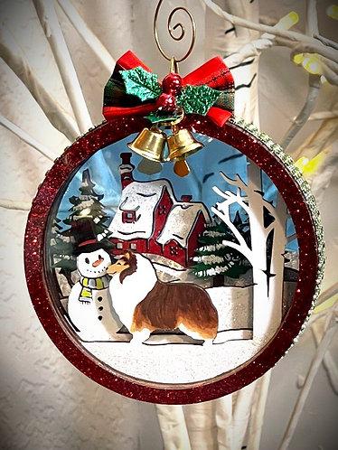 Sheltie Christmas Ornament 2021