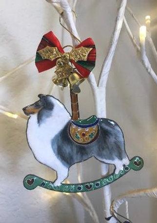 blue merle rough collie ornament 2020