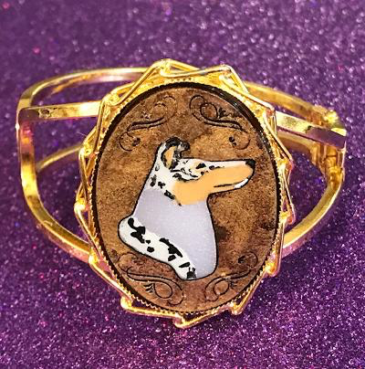 smooth collie gold tone bracelet
