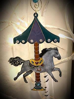 Glass enamel Carousel Horse Ornament 2020