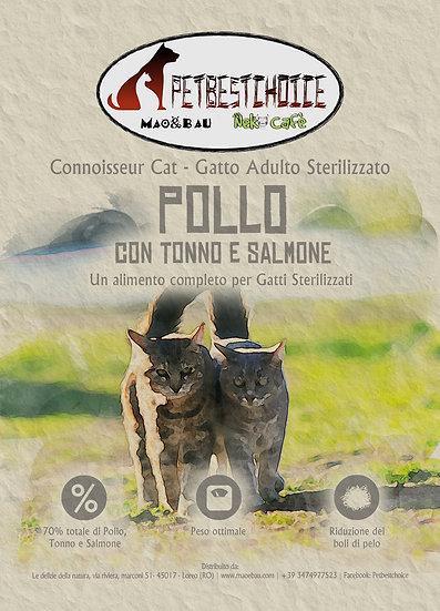 PETBESTCHOICE  Grainfree Adult Sterilizzato Pollo,Tonno & Salmone 70%