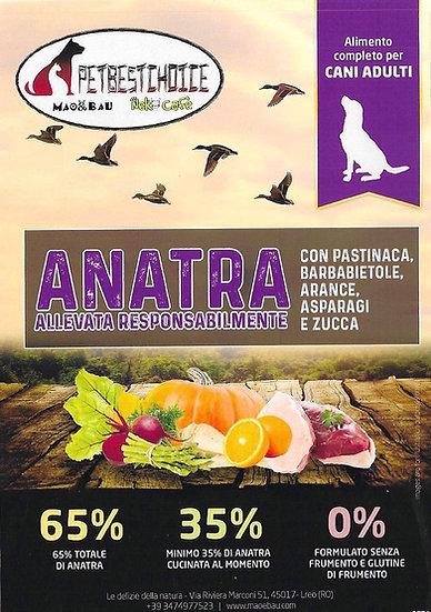 PETBESTCHOICE GRAINFREE ADULT ANATRA 65% & 5 SUPERFOOD
