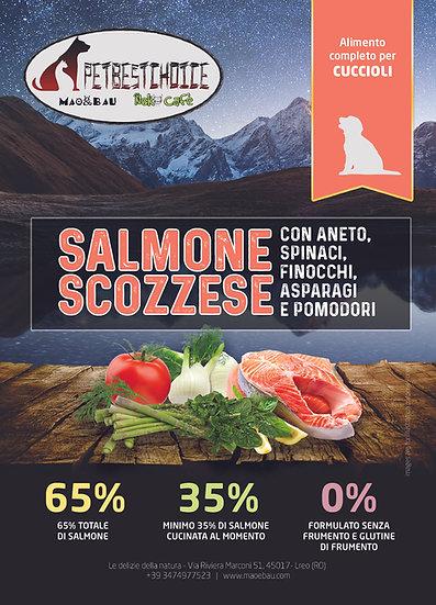 PETBESTCHOICE  GRAINFREE Cucciolo SALMONE SCOZZESE 65% & 5 SUPERFOOD
