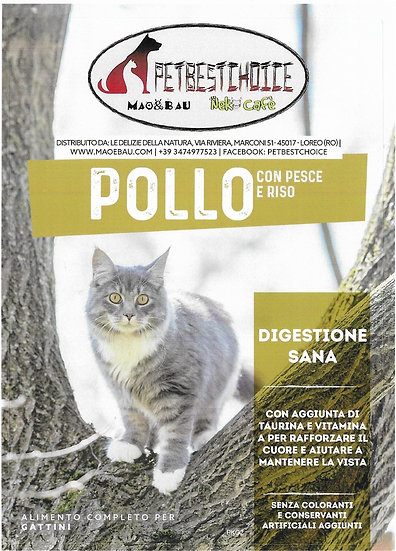 PETBESTCHOICE SUPERPREMIUM puppy  Pollo & Pesce 40% con Riso