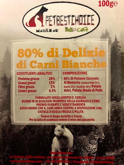 Delizie Di Carni Bianche 80% Senza Cereali gr100