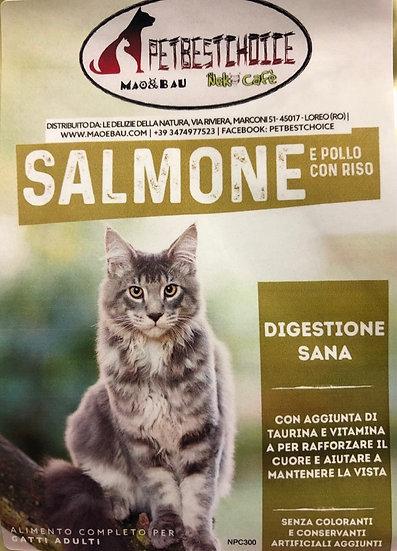 PETBESTCHOICE SUPERPREMIUM adult  Salmone e Pollo 60% con Riso