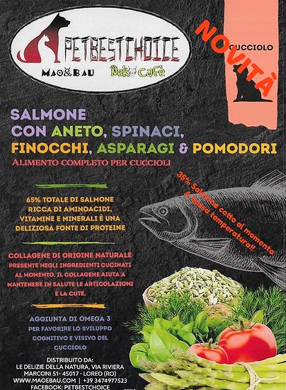 PETBESTCHOICE  GRAINFREE Cucciolo SALMONE 65% & 5 SUPERFOOD
