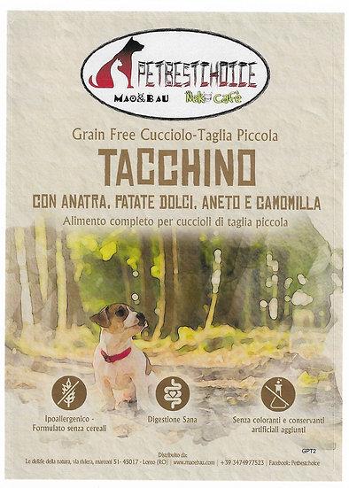 PETBESTCHOICE GRAINFREE  mini PUPPY  Tacchino & Anatra 60% Aneto Camomilla
