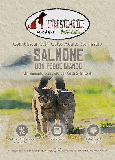 PETBESTCHOICE  Grainfree Adult Sterilizzato Salmone & Pesce Bianco 70%