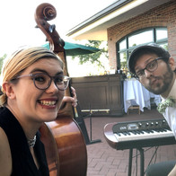 Performing at a wedding with Matt Griffo