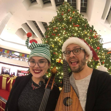Performing holiday tunes with Matt Griffo