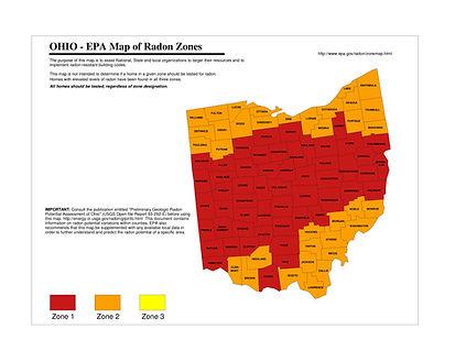 Columbus Radon Map