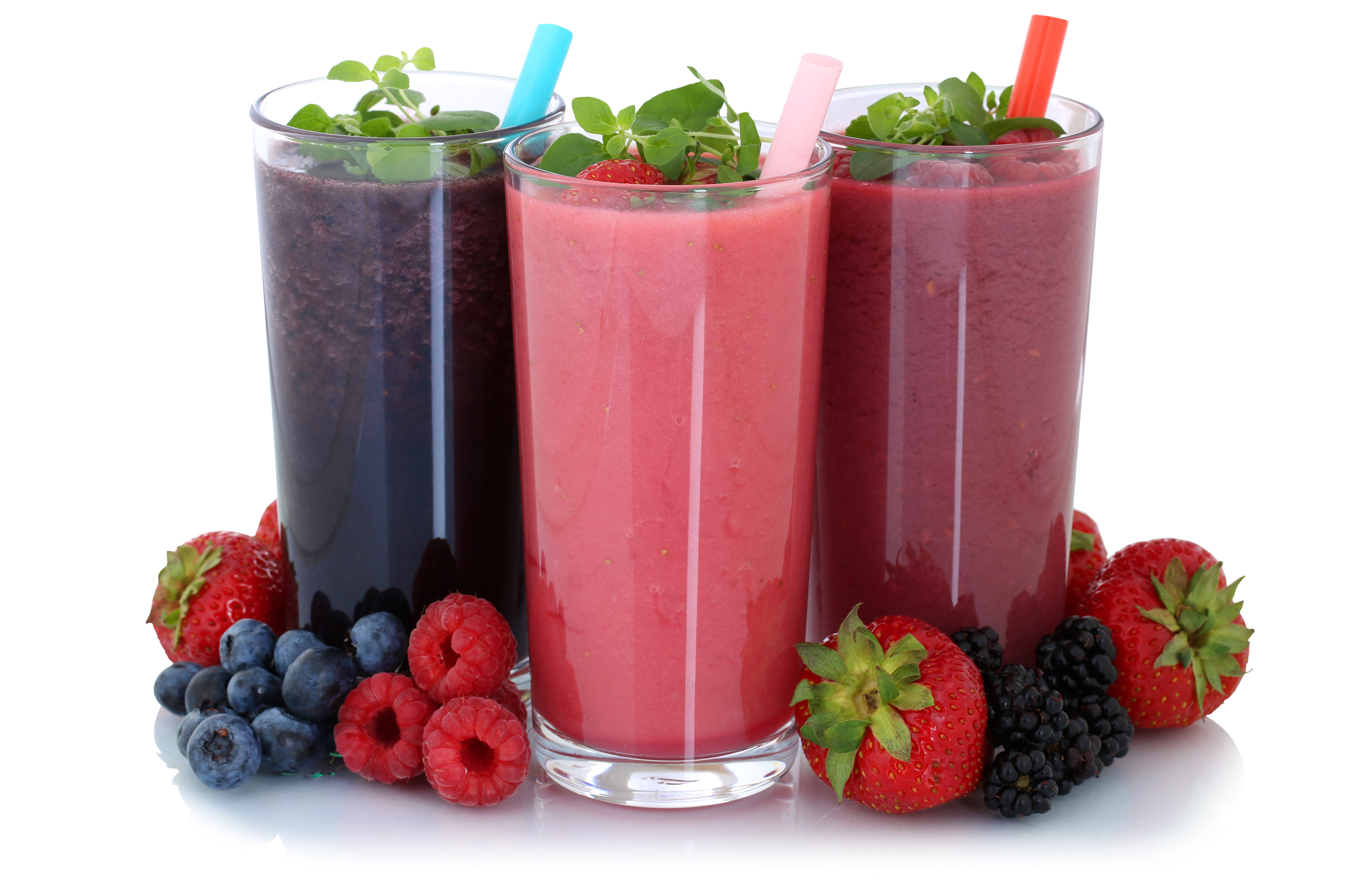 Smoothie Fruit Juice With Fruits Isolated
