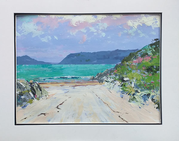 One of my recent paintings, 'Down to the Sea'