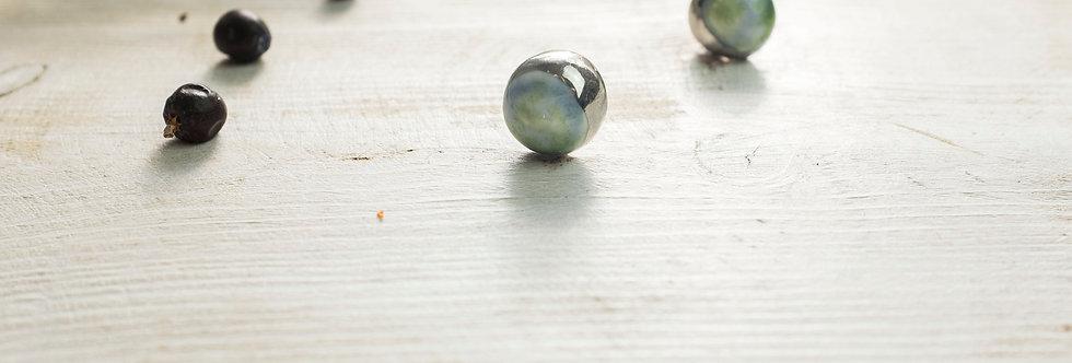 SOLD! Porcelain Earrings Moon Light Blue