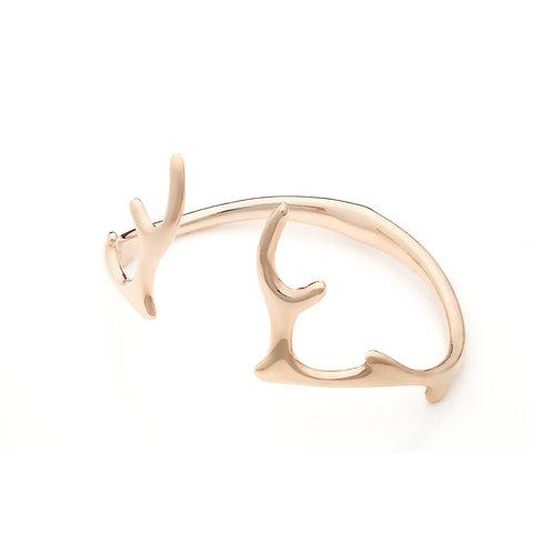Antlers Bangle Gold
