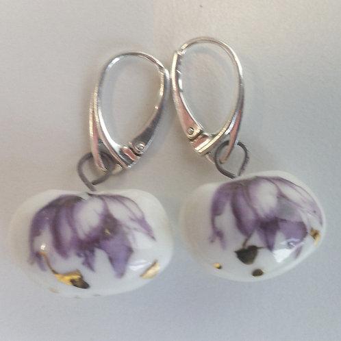 SOLD! Porcelain Earrings Midsummer Blossom