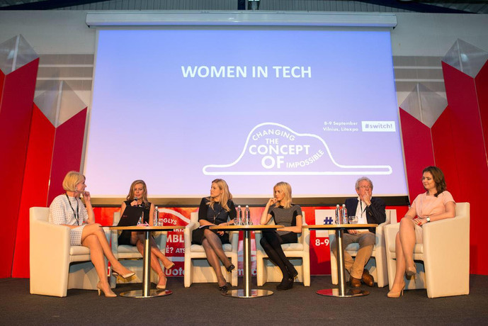 Evelina Kurgonaite of W@ at #switch! on Women in Tech