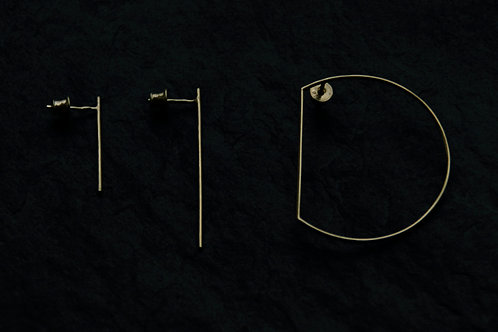 NEW MOON   set of 3 earrings