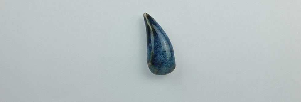 Porcelain Brooch 'Rain Drop' Blue