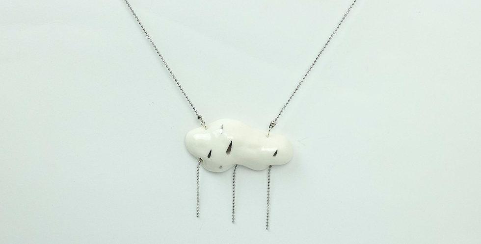 Porcelain Pendant White 'Summer Rain'