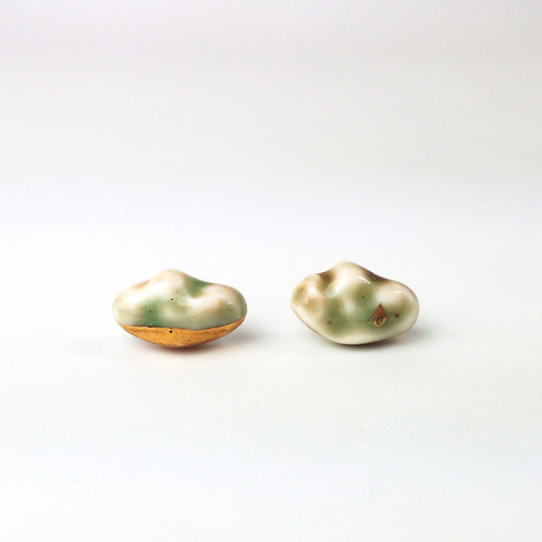 Porcelain Earrings Clouds
