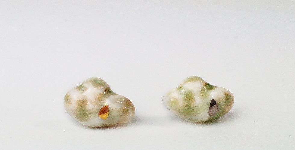 Porcelain Earrings Clouds