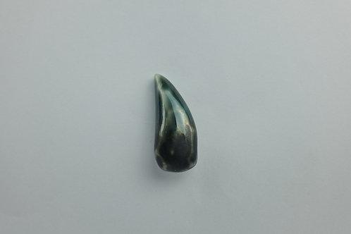 Porcelain Brooch 'Rain Drop' Green