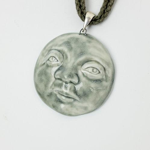 Porcelain Pendant Full Moon