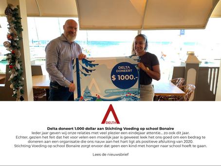 Delta doneert aan Stichting Voeding op Bonaire
