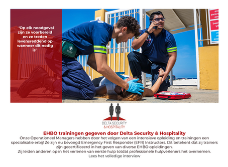 EHBO trainingen gegeven door Delta Security & Hospitality