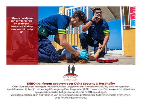 EHBO trainingen gegeven door Delta Security & Hospitality