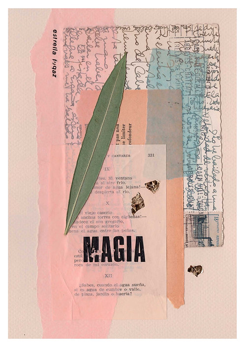 Print Collage PALABRAS / Magia