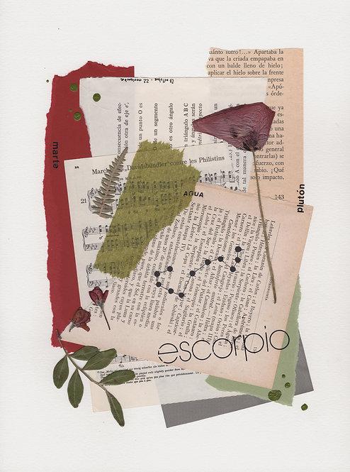 Print Collage ZODIACO / Escorpio